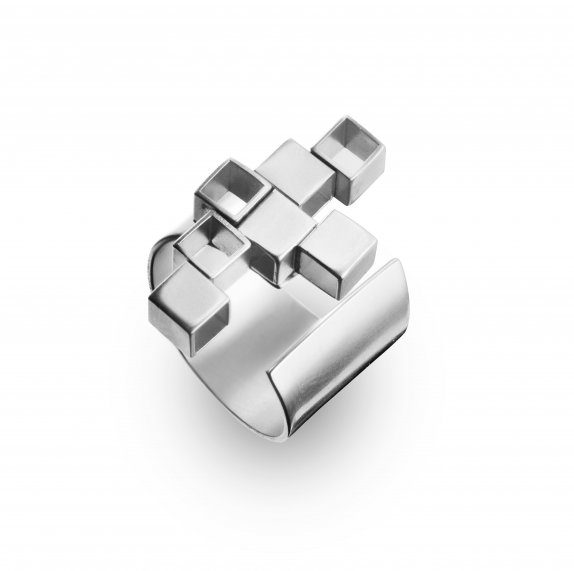 Architectural Geo silver Ring