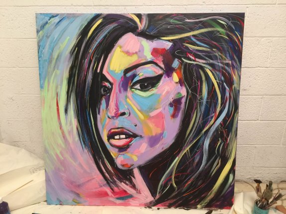 140X140 Acrylic on canvas - chen bachar- Amy Winehouse