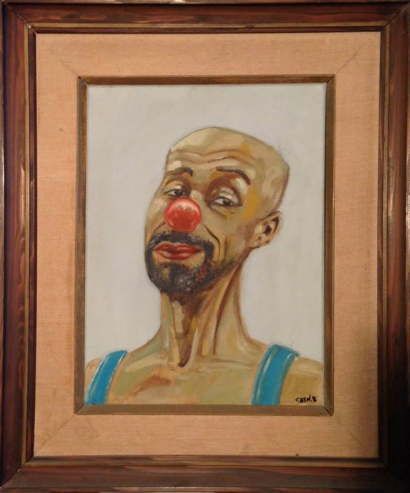 40X30 oil on canvas - chen bachar-the clown