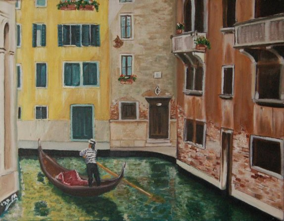 45X35 oil on canvas - chen bachar- venice